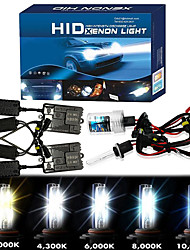 cheap -OTOLAMPARA 1 Kit 600% Halogen Bulb Lightness 3000 Hours Lifespan Special for Jeep Mitsubishi KIA All Models AC 55W HID Xenon Kit 4 Colors Optional