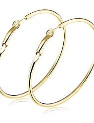 cheap -fashion women earrings jewelry gold plated round hoop earrings hypoallergenic 40mm-70mm diameter