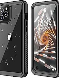cheap -for iphone 12/iphone 12 pro waterproof case 5g,for iphone 12/12 pro case built in screen protector full body protective shockproof dustproof ip68 waterproof case for iphone 12/12 pro 6.1inch