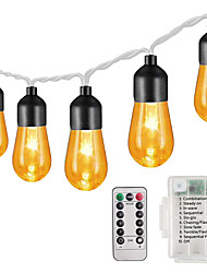 cheap -3m 5m 10m  Retro Bulb Light String Acrylic Bulb Garden Light Christmas Party Decoration Light Wedding 13Keys Remote  8-Mode Dimming Timing Function  Waterproof AA Batteries Powered  1 set