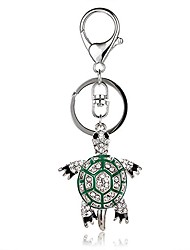 cheap -sea turtle charm fashionable keychain - sparkling crystal - green