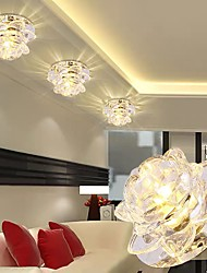 cheap -10cm LED Crystal Ceiling Light Porch Light Aisle Corridor Lamp Modern Flower Design Flush Mount Lights Metal Electroplated 110-240V