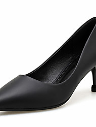 cheap -Women's Heels Stiletto Heel Pointed Toe Classic Daily PU Solid Colored Black Blue Beige / 2-3