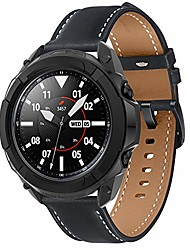 cheap -compatible with samsung galaxy watch 3 case 41mm full edge case with bezel ring protector cover case frame for galaxy watch 3 sm-r850/sm-r840 (black, watch3 41mm)