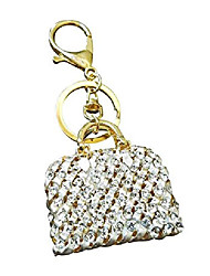cheap -gold rhinestone handbag style key chain women's purse charm gift key chain
