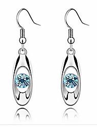 cheap -fashion crystal drop earring oval dangle earrings