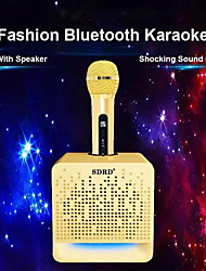 cheap -SD-504 Bluetooth Karaoke Speaker With Wireless Microphone Portable KTV Karaoke Set USB Radio K-Song Audio