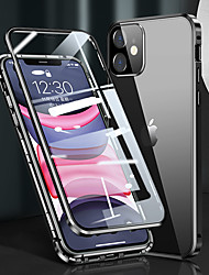 cheap -Phone Case For Apple Full Body Case iPhone 12 Pro Max 11 SE 2020 X XR XS Max Shockproof Magnetic Camera Lens Protector Solid Color Metal