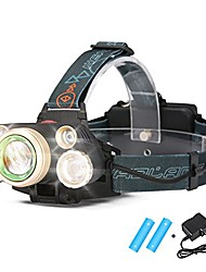 cheap -rechargeable led headlamp, super bright 5led head torch,8000lumen led with adjustable head strap