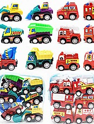 cheap -pull back car set 12 pack mini assorted fire truck & construction vehicles preschool car toys for boys kids child birthday party favors toy play set (fire truck & construction vehicles)
