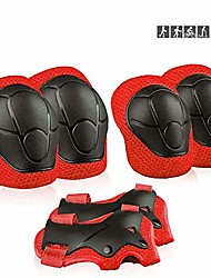 cheap -kids sports protective gear, children knee pads elbow pads wrist guards set for skating cycling bike and other outdoor sports (red)