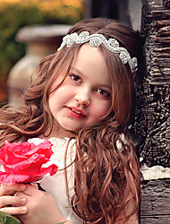 cheap -1pcs Kids Girls' Sweet Floral Floral Style Hair Accessories White / Headbands