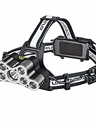 cheap -led head torch, multifunction lantern super bright lithium battery usb flashlight waterproof outdoor miner night fishing lamp (color : white-#7)
