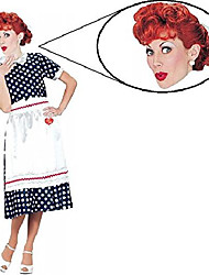 cheap -i love lucy tv show woman costume and wig set (plus size (18-22))