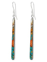 cheap -turquoise earrings 925 sterling silver & genuine turquoise (spiny turquoise)