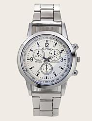 cheap -Men's Steel Band Watches Quartz Modern Style Stylish Casual Chronograph Analog White Blue Brown / Titanium Alloy