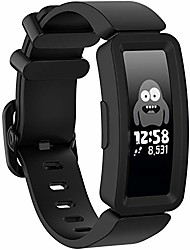 cheap -compatible with fitbit ace 2 bands for kids, boys girls colorful soft silicone bracelet accessories sports watch straps wristbands replacement watch band for fitbit ace2 activity tracker (black)
