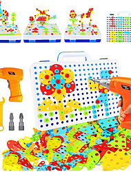 cheap -237 Pieces Electric DIY Drill Educational Set, STEM Learning Toys, 3D Construction Engineering Building Blocks for Boys and Girls Ages 3 4 5 6 7 8 9 10 Year Old, Creative Games and Fun