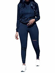 cheap -women plus size tracksuit ,casual solid colour warm loose jacket,autumn and winter cosy drawstring trousers jogger 2pcs sets outfit,ladies sportswear sweat suit dark blue xxxl