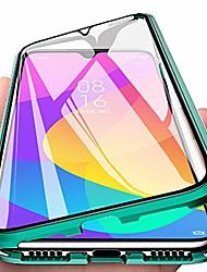 cheap -eabhulie xiaomi mi a3 case, 360° full body transparent tempered glass with magnetic adsorption metal bumper case cover for xiaomi mi a3 / mi cc9e green