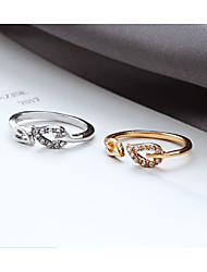 cheap -Midi Ring Classic Rose Gold Silver Alloy Leaf Stylish Simple Trendy 1pc Adjustable / Women's