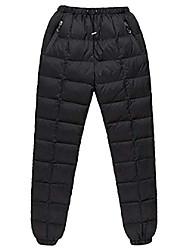 cheap -men goose down pants snow pants winter waterproof down plus size pants black, xx-large