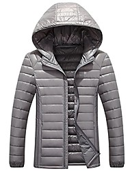cheap -men's lightweight down jacket winter alternative down jacket with detachable hood outerwear coat gray us s