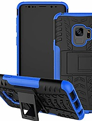 cheap -galaxy s9 case, samsung s9 case, with kickstand hard pc back cover soft tpu dual layer protection phone cover for samsung galaxy s9 5.8 inch (blue)