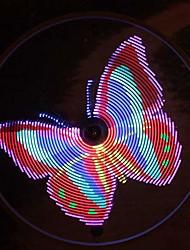 abordables -lumières de roue de vélo lumière de rayon de vélo programmable 64 leds visibles sous tous les angles rechargeable par usb avec piles étanches ipx6 (1 pneu)