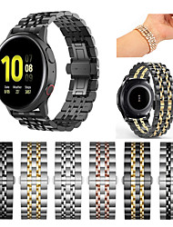 cheap -1 PCS Watch Band for Samsung Galaxy Sport Band Stainless Steel Wrist Strap for Gear Sport Gear S3 Frontier Gear S3 Classic Gear S2 Classic Gear 2 R380