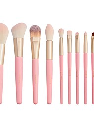 cheap -10 Pcs Makeup Brush set Fiber Filament Powder Brush Eye Shadow Brush Foundation Beauty Tool