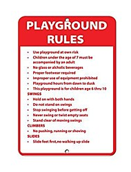 """cheap -new metal sign aluminum sign playground rules use playground at own risk activity sign for outdoor & indoor 12"""" x 8"""""""