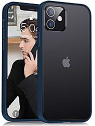cheap -compatible with iphone 12 case/iphone 12 pro case 6.1 inch (2020), [military grade drop protection][intoxicating touch] translucent shockproof matte phone case with soft edges, blue