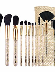 cheap -12 makeup brushes set beginner makeup tools complete set of eye brushes is super soft (color : gold)