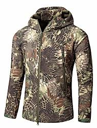 cheap -Hunting Jacket Outdoor Thermal Warm Waterproof Windproof Wear Resistance Coat Top Camping / Hiking Hunting Fishing ACU Digital-Jackets CP green camouflage-jacket CP camouflage-Jackets