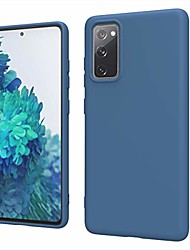 cheap -samsung galaxy s20 fe 5g case, s20 fan edition case, liquid silicone slim soft tpu fit drop protection phone case for galaxy s20 fe 5g (dark blue)
