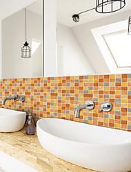 cheap -3D Mosaic Rich Yellow Wall Sticker Bathroom Waterproof Tile Sticker Kitchen Oil and Antifouling Sticker 240*20cm