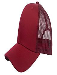 cheap -trucker mesh baseball cap mens womens original 6 panels twill hat summer, burgundy/red