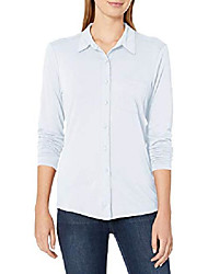 cheap -women's harley knit button down, agate, small