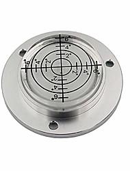 cheap -aluminum alloy universal level mini level round bubble spirit level diameter 50mm height 11.5mm(1pcs) (white)