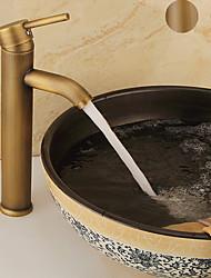 cheap -Bathroom Sink Faucet - Single Antique Copper / Black Centerset Single Handle One HoleBath Taps