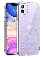 cheap -iphone 11 case, bling sparkly glitter shiny sparkle girls women durable cover slim lightweight shockproof protective hybrid hard cases for iphone 11 6.1 inch (2019 release) silver glitter