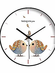 cheap -non-ticking wall clock, 12-in silent battery operated wall clock with abs frame hd glass cover for kids living room bedroom kitchen school office decor large clock (gold)