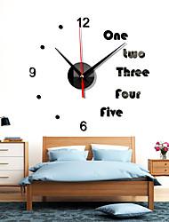 cheap -Wall Clock Pattern 3D Decorative Wall Sticker Home Decor Clock Living Room Home Decoration Mirror Art Designer