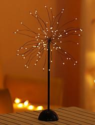 cheap -1X Firework Led Night Light Home Decoration Bonsai Style Party Fireworks Tree Shape LED Lamp For Christmas Warm White Lighting AA Battery Power