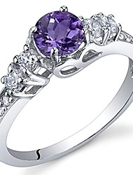 cheap -enchanting 0.50 carats amethyst ring in sterling silver size 7