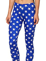 cheap -women's fashion digital print american flag usa spandex strenchy leggings (medium, blue star)