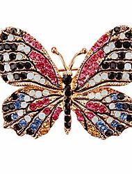 cheap -winged butterfly crystal rhinestones brooch pin (purple)