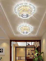 cheap -14cm LED Ceiling Light Crystal Modern Porch Light Aisle Corridor Flower Desgin Flush Mount Lights Metal Electroplated 110-120V 220-240V
