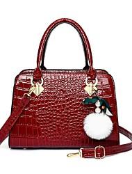 cheap -Women's Bags Satchel Top Handle Bag Date Office & Career Handbags Black Red Brown